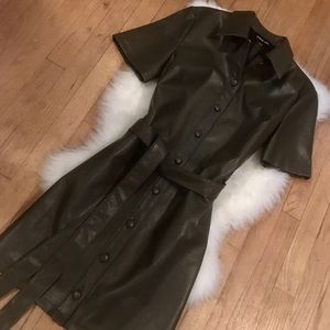 NWOT Olive Button Down Shirt Dress